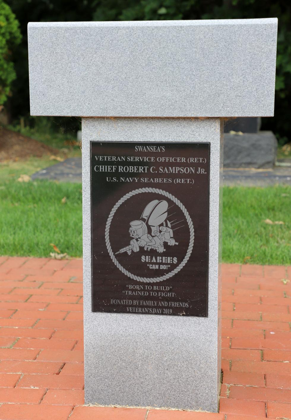 Swansea Mass Veterans Memorial Park - Chief Robert C Sampson Memorial