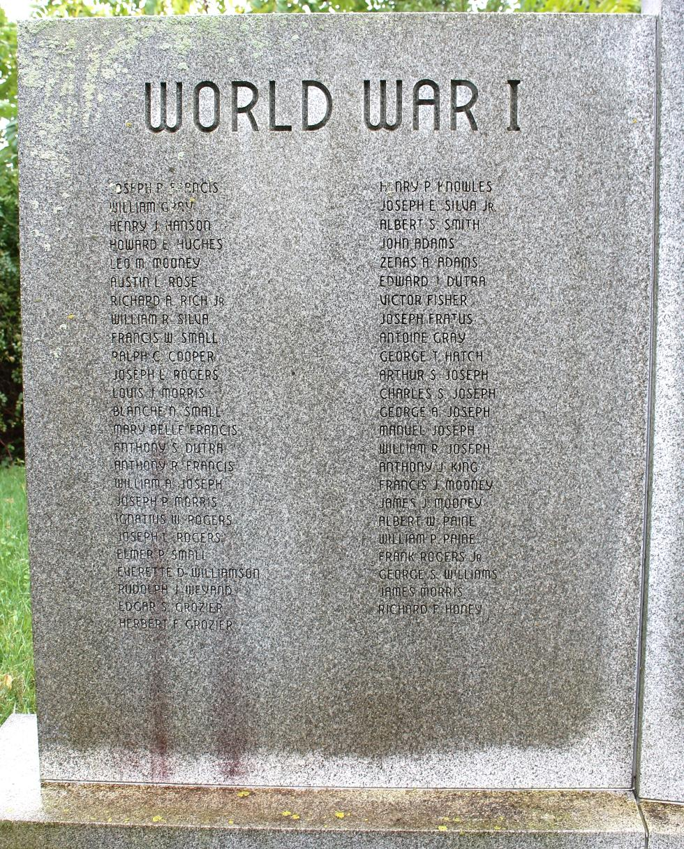 Truro Massachusetts Veterans Memorial WWI