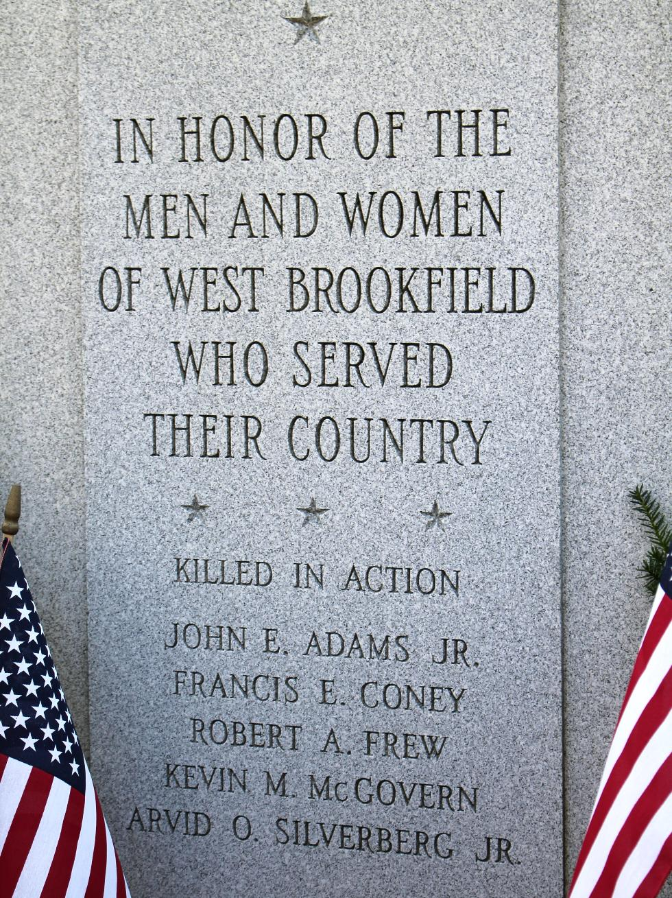 Honering the Men and Women of West Brookfiled Massachusetts who served their Country