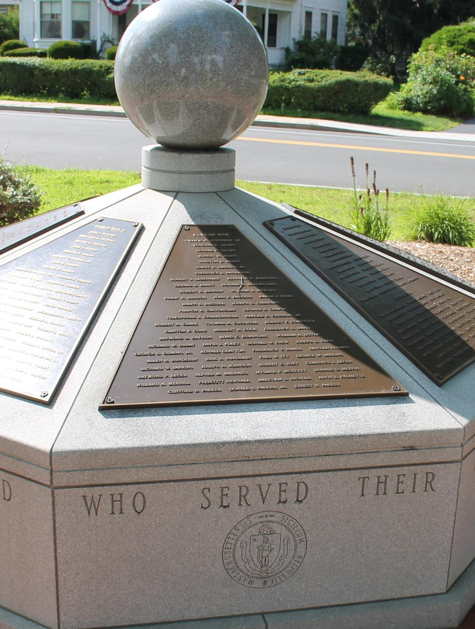West Brookfield World War II, Korean War & Vietnam War Veterans Memorial