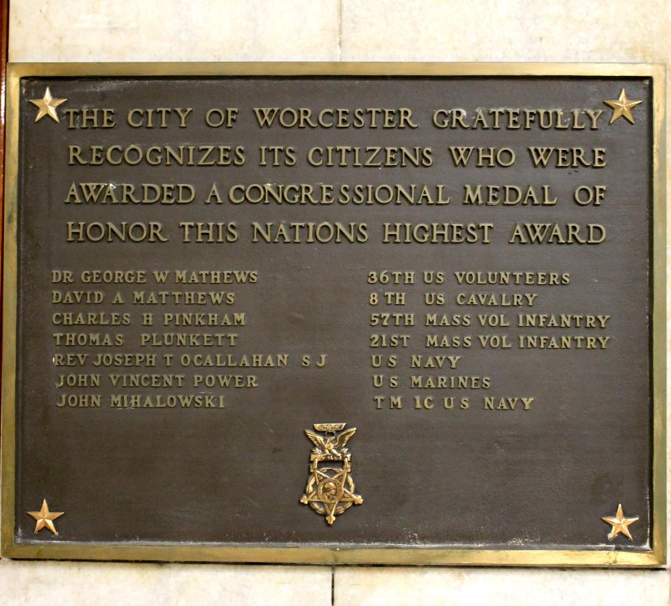 Worcester Massachusetts Congressional Medal of Honor Recipients