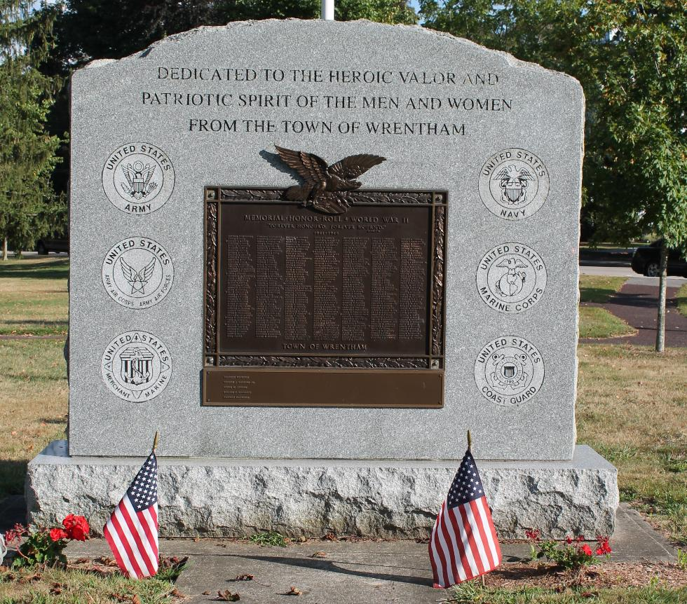 Wrentham Massachusetts World War II Veterans Monument